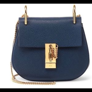 Mini Chloe Drew bag in navy